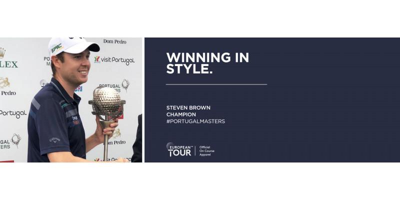 Callaway Apparel Ambassador Steven Brown wins his first European Tour Title
