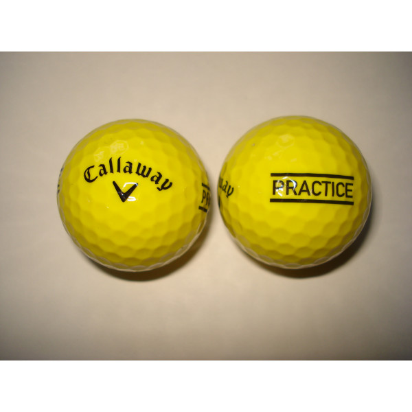 Мяч Callaway'16  PRACTICE (Yellow)