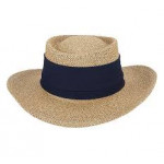 Шляпа (муж) солом. Impеrial (белый) лого Сколково