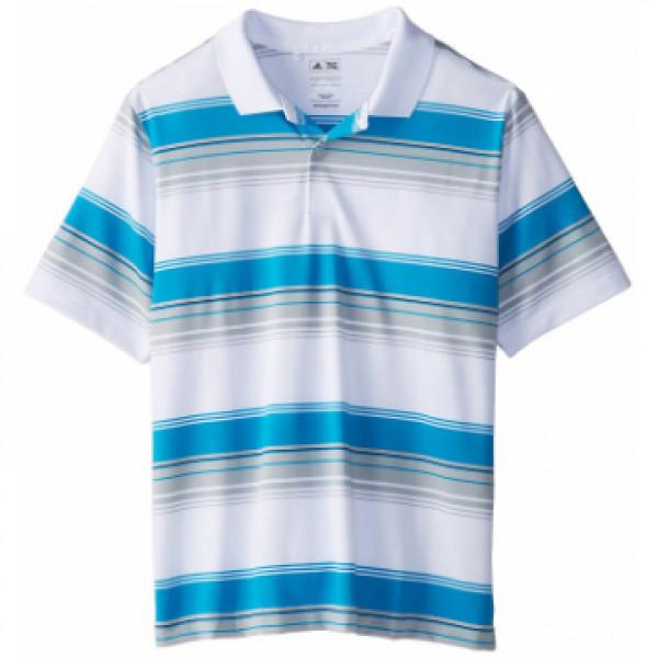 Поло (дет) Adidas (белый/голубой) 83743