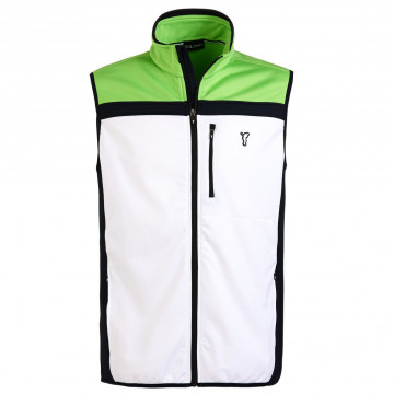 Жилет (муж) Golfino'16  6220412 (100) белый-зеленый