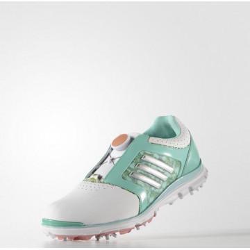 Ботинки (жен) Adidas'16  Adistar Boa (белый-зеленый) 33399