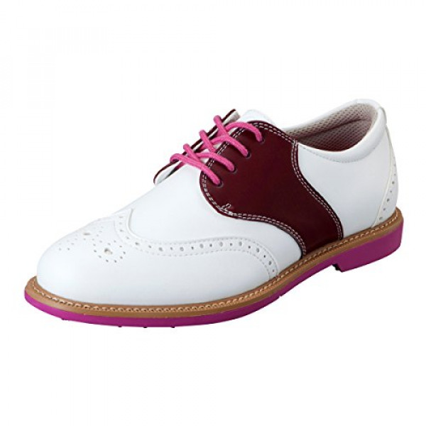 Ботинки (жен) Honma'17  (белый/бордовый) SR-6602