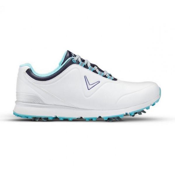 Ботинки (жен) Callaway'8  Lady Mulligan (белый/голубой) W632-05