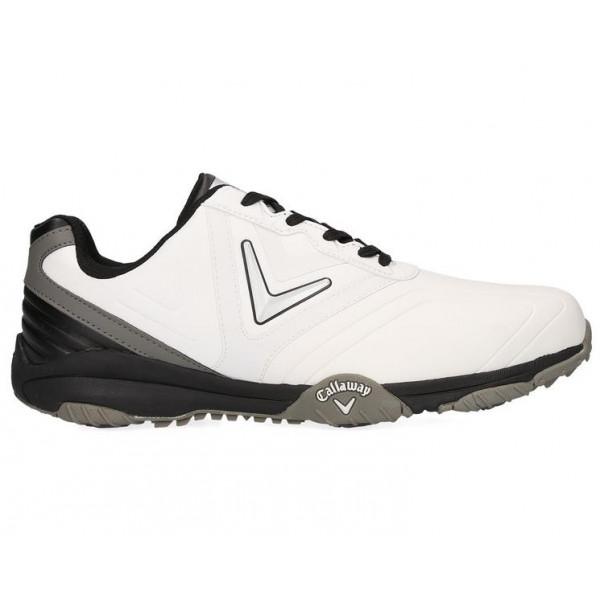 Ботинки (муж) Callaway'8  Chev Comfort (белый-черный) M543-01