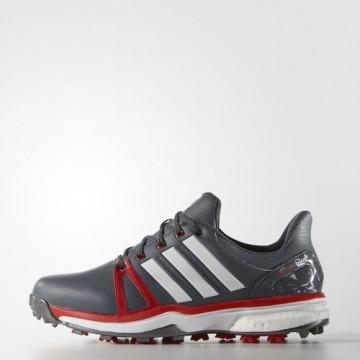 Ботинки (муж) Adidas'16  Adipower boost 2 (onix/red) 44667