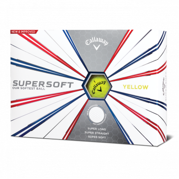 Мяч Callaway'16 SUPERSOFT (3шт/уп) yellow