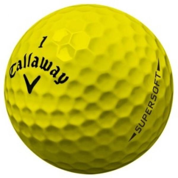Мяч Callaway'8  SUPERSOFT (3шт/уп) желтый, 2pc