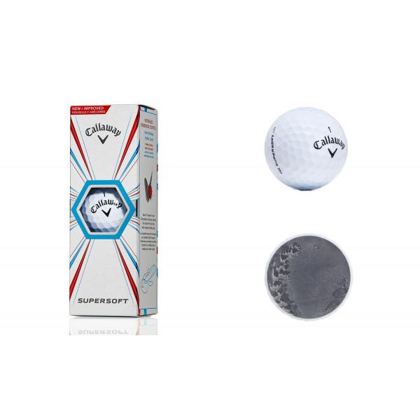 Мяч Callaway'8  SUPERSOFT (3шт/уп) белый, 2pc