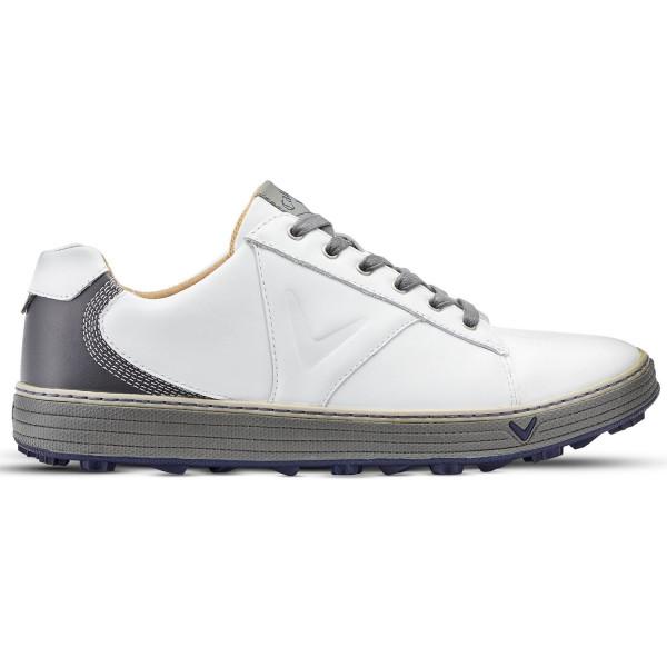 Ботинки (муж) Callaway'8  Del Mar Retro (белый/серый) M538-10