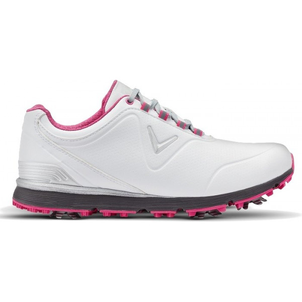 Ботинки (жен) Callaway'8  Lady Mulligan (белый/розовый) W632-01
