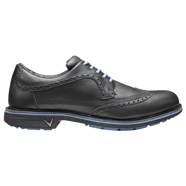 Ботинки (муж) Callaway'8  Del Mar Brogue (черный/голубой) M558-02