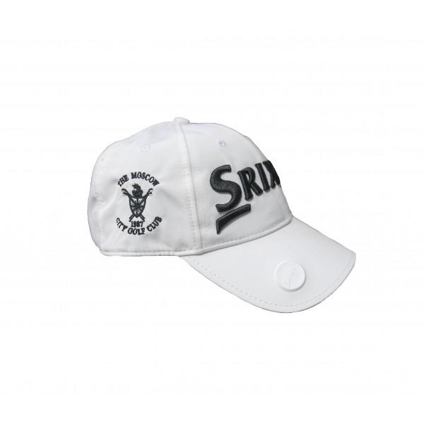 Бейсболка Srixon'9  BALL MARKER 106062 (белый) logo MGGK