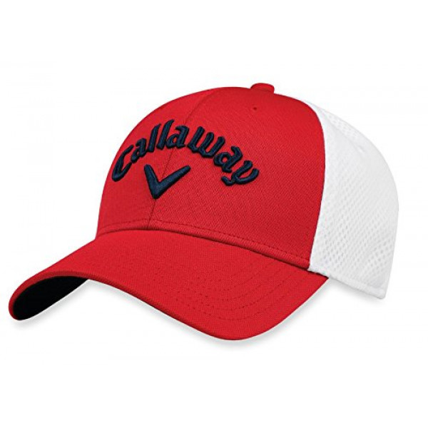 Бейсболка Callaway'8  Mesh Fitted (красный/белый) 5218052