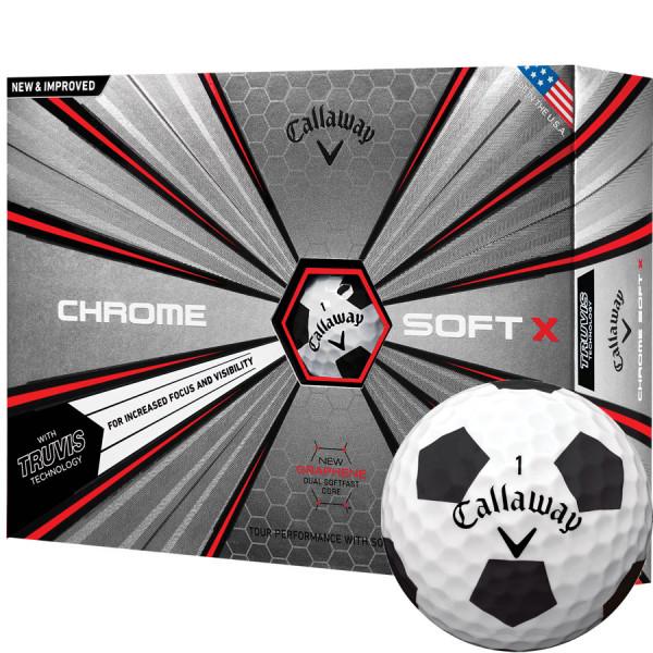 Мяч Callaway'9  CHROME SOFT TRUVIS (черно-белый) (3шт/уп) 4pc