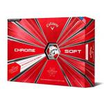Мяч Callaway'9  CHROME SOFT TRUVIS (красный) (3шт/уп) 4pc