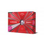 Мяч Callaway'9  CHROME SOFT TRUVIS (розовый) (3шт/уп) 4pc