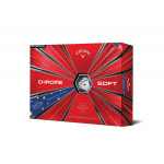 Мяч Callaway'9  CHROME SOFT TRUVIS  (голубой) (3шт/уп) 4pc
