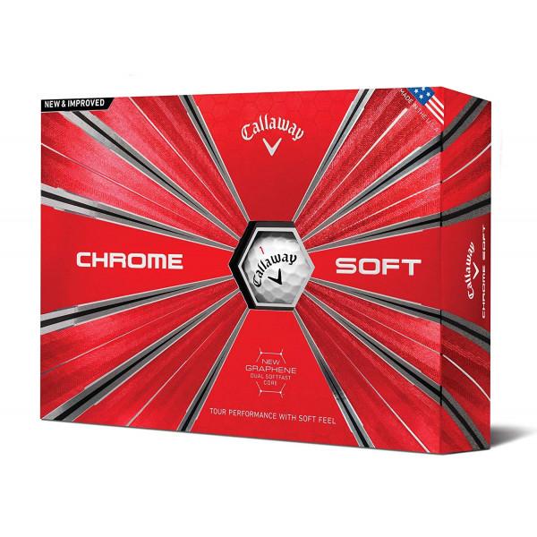 Мяч Callaway'9  CHROME SOFT (3шт/уп) 4pc