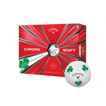 Мяч Callaway'9  CHROME SOFT TRUVIS клевер (3шт/уп) 4pc