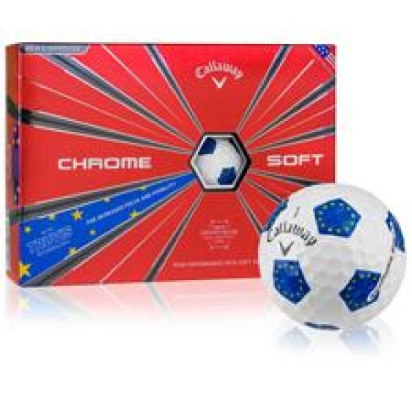 Мяч Callaway'9  CHROME SOFT TRUVIS EURO (белый/синий) (3шт/уп) 4pc