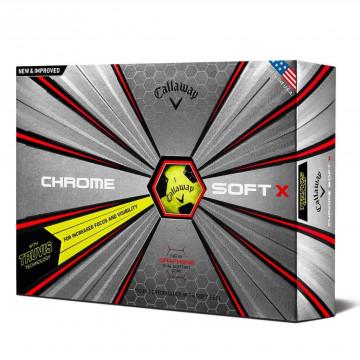 Мяч Callaway'9  CHROME SOFT X TRUVIS (желтый) (3шт/уп) 4pc