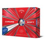 Мяч Callaway'9  CHROME SOFT TRUVIS (красный/синий) (3шт/уп) 4pc