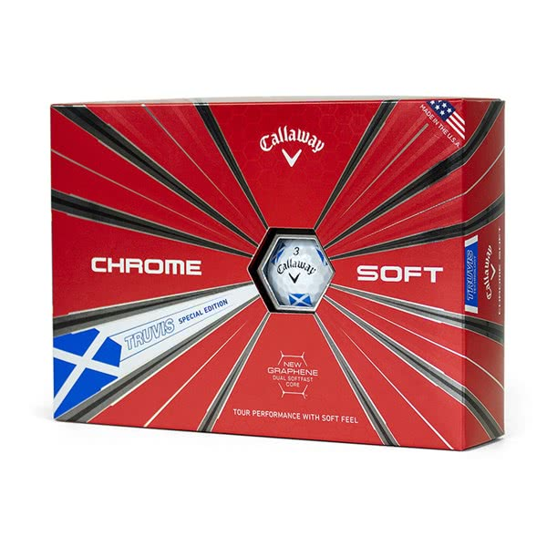 Мяч Callaway'9  CHROME SOFT TRUVIS Scotland (3шт/уп) 4pc