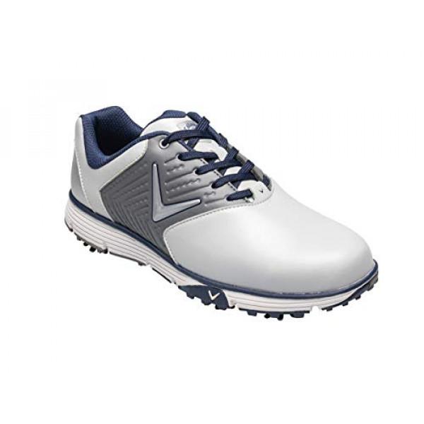 Ботинки (муж) Callaway'9  Chev Mulligan (белый/серый) M574-55
