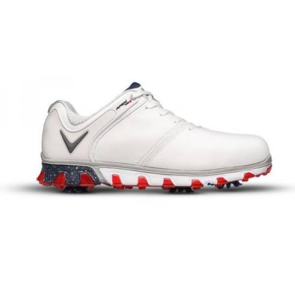 Ботинки (муж) Callaway'9  Apex Pro S (белый/красный) M569-35