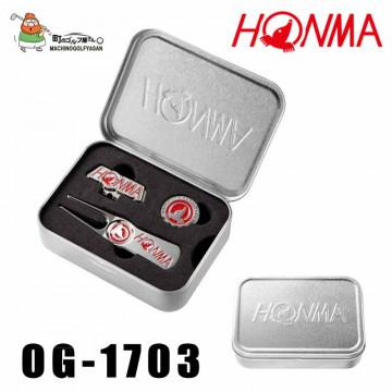 Набор Honma'9  Вилка+Маркер (красный) in metal box OG1703