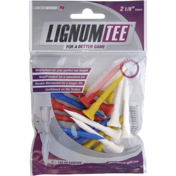 Ти Lignum'9  53мм (16 шт) цветные  30029