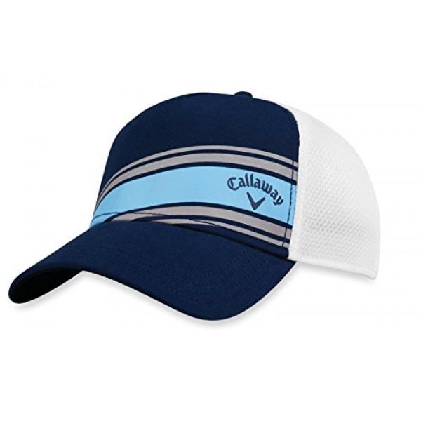 Бейсболка Callaway'9  STRIPE MESH  5219060 (белый/голубой)