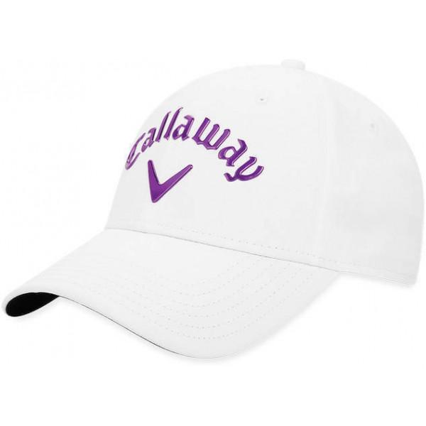 Бейсболка (жен) Callaway'9  Liquid Metal  5219133 (белый/фиолетовый)