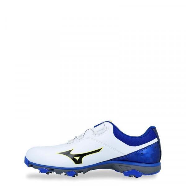 Ботинки (муж) Mizuno'9  NEXLITE 005 Boa 1810 (22) белый/синий