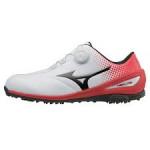 Ботинки (муж) Mizuno'9  NEXLITE 004 Boa 1720 (62) белый/красный