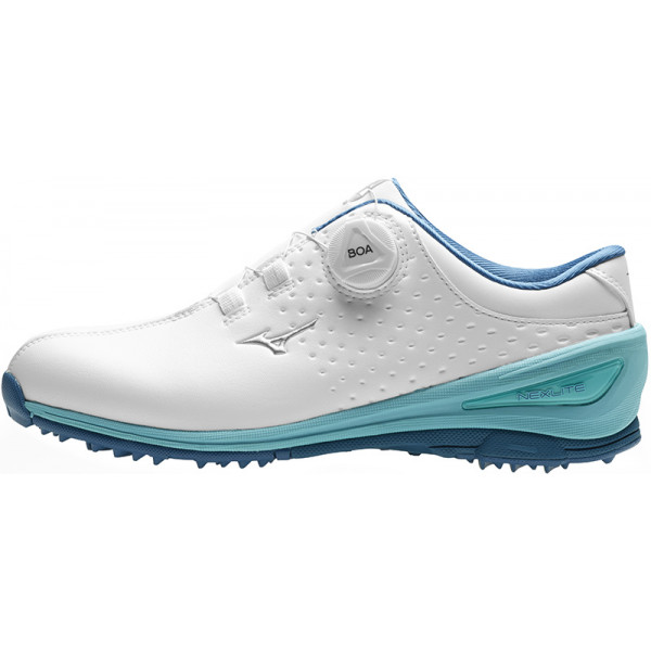 Ботинки (жен) Mizuno'9  NEXLITE 006 Boa 51GW1920 (19) белый/голубой