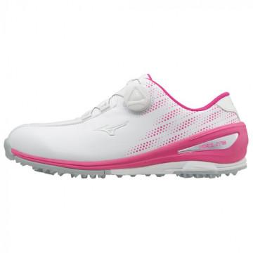 Ботинки (жен) Mizuno'9  NEXLITE 004 Boa 1720 (64) белый/розовый