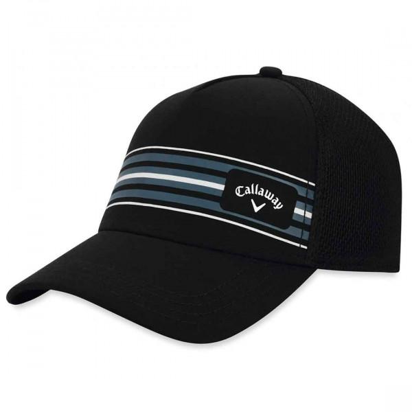 Бейсболка Callaway'9  STRIPE MESH  5219058 (черный/серый)