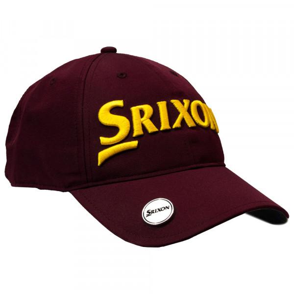 Бейсболка Srixon'9  BALL MARKER  110632 (бордовый/желтый)