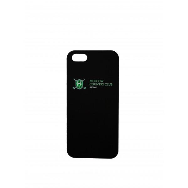 Чехол iphone 6+/Лого + надпись (черный) MCC