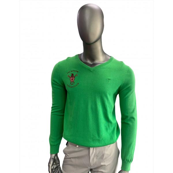 Пуловер (муж) Golfino'8  зеленый (653) 2216012 logo MCGK