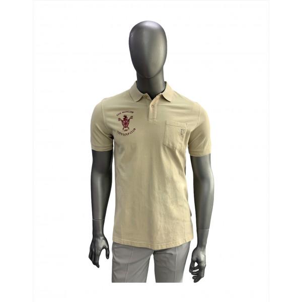 Поло (муж) Golfino'8  бежевый (152) 2236112 logo MСGK