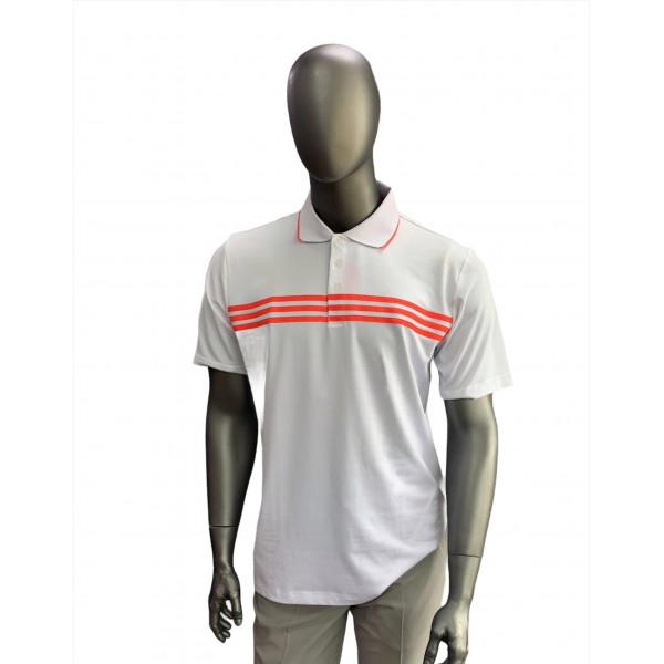 Поло (муж) Adidas'4  83405 (белый/оранжевый)