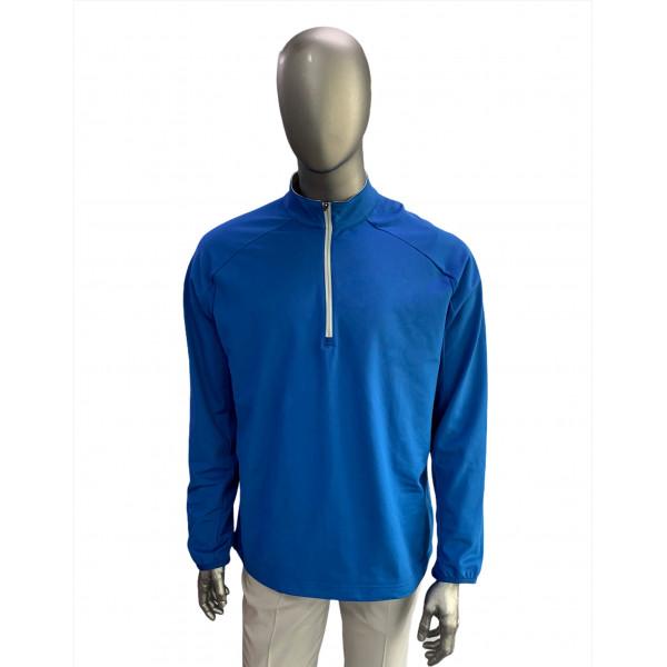 Кофта (муж) Adidas'16  ClimaCool Zip 1/4 (blue) 8796