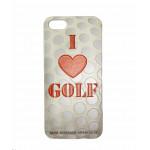 """Чехол для iphone 5/love golf""""(красно-белый на мяче)"""