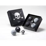 Подарочный набор мячей Volvik'20  Skull (4шт/уп + маркер) 021491