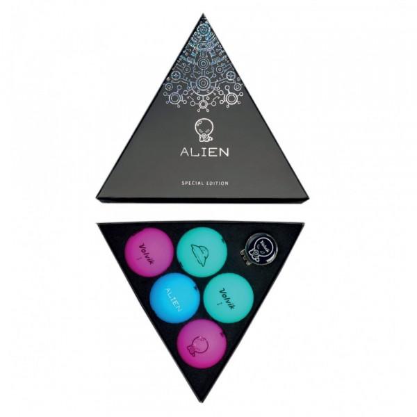 Подарочный набор мячей Volvik'20  Alien (5шт/уп + маркер) VV0000717