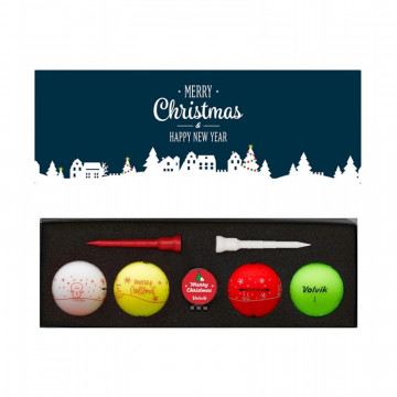 Подарочный набор мячей Volvik'20  X-MAS Holiday (4шт/уп+ маркер + ти) VV0000715