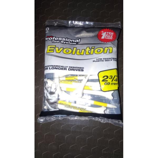 Ти Golf Pride'20  Evolution 2-3/4 (10шт) белый/желтый (69мм) 202198
